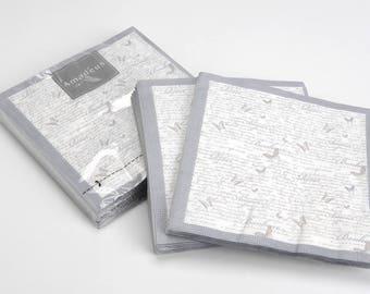 Pack of 20 paper butterflies napkins