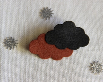 PIN two clouds black and Brown