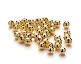 10 beautiful imitation brass beads good quality, color or 6mm