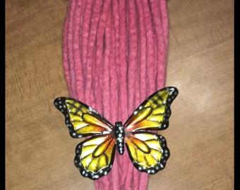 25 Pretty in pink wool dreads
