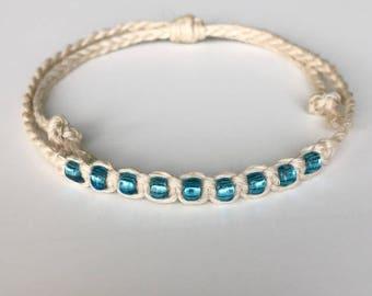 Single Color Beaded Macrame Bracelet
