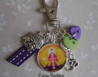 Buddha bag charm or keychain
