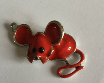 mouse red enamel (model gd)