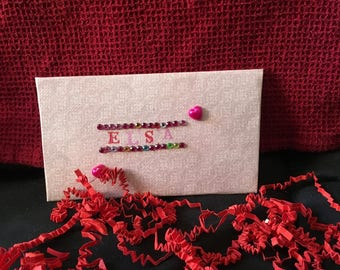 envelope is hands birthday Christmas gift or holiday
