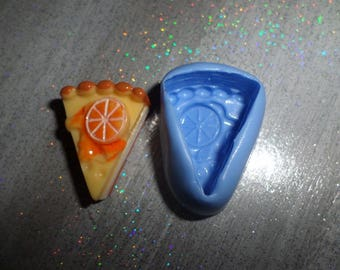 Mold piece of Pie 2cm / 3cm. for polymer clay