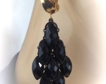 Vintage art deco chic clip earrings