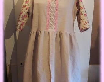 Dress chabby canvas hemp twine