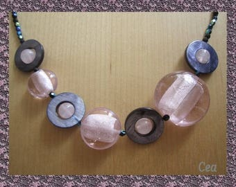 Gradient Pink Pearl Necklace