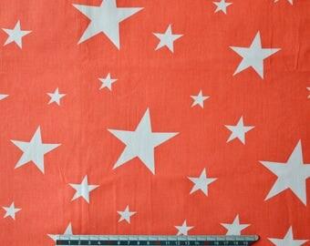 "Satin Red White ""stars"" pattern cotton fabric"