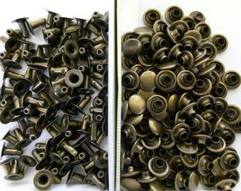 1000 rivets Bronze 8mm height 9mm diameter
