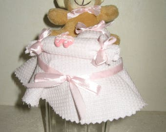 Free shipping! Pink Teddy bear jar