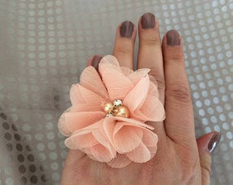 Chiffon flower ring