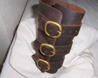 Rustic leather arms