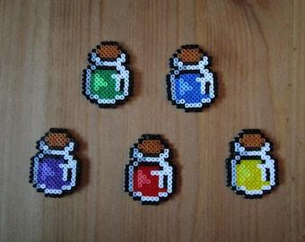 Pixel Art/beading - {various} - potion vials