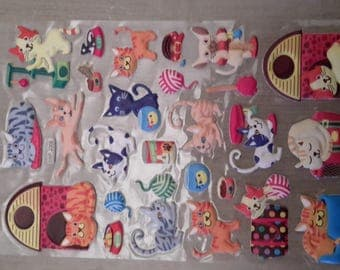 Stickers stickers 3D plastic cats