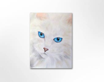 Image original canvas painting acrylic pictures art painting unique hand painted cat
