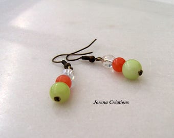 Stones and bicone Swarovski earrings