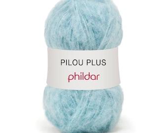 phildar PILOU + color yarn