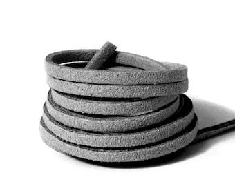 Suede lace / leather /largeur 3mm cut 50 cm