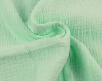 Double cotton gauze / MINT / cut 25cm