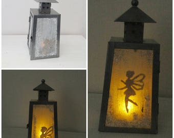 Lantern candle holder or small night light fairy LED 2 sided