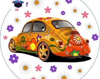 1 cabochon clear 18 mm Ladybug car theme