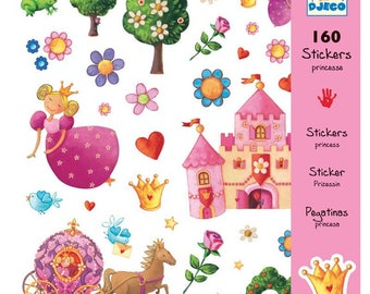160 brand djeco Princess theme stickers