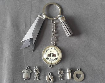 "Keyring ""will you be my godfather"" by lolaclarabijoux"