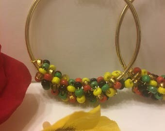 Nubian Coil Hoop Earrings