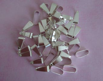 Silver clips clasps
