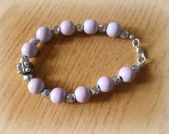 Lilac pearls bracelet