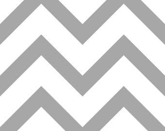 Gray chevron pattern fabric