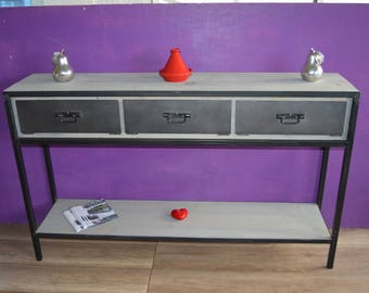 Industrial Cabinet console 3 steel valves