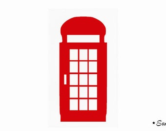English telephone booth red flex