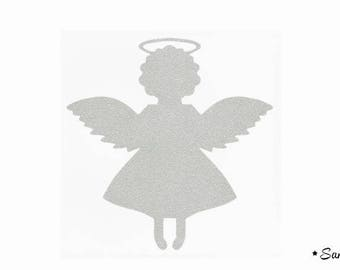 Silver paillete flex fusible Angel motif