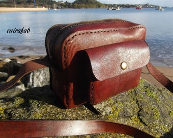 leather shoulder bag handmade for men