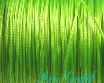 Korean Wax Polyester Cord, Lime, 0.5mm