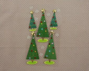 "Santa Claus ""Christmas tree"" 3D stickers"