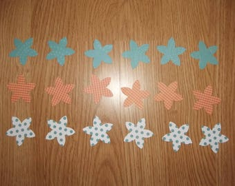 Set of 18 flowers for scrapbooking.