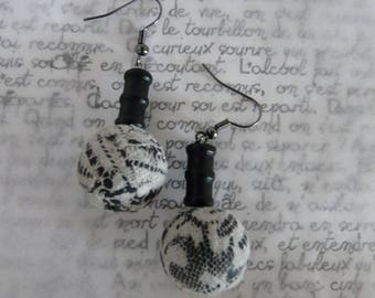 Polymer clay earrings - lace