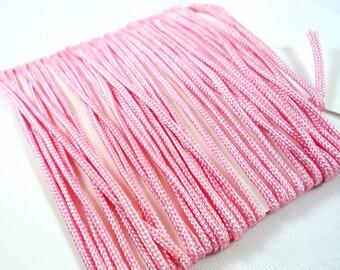 5 m pink braiding macrame shamballa nylon cord 1 mm, (fil10)