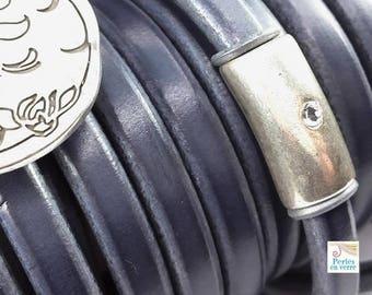 20 centimeters (re2) 6x11mm bluish grey Regaliz leather