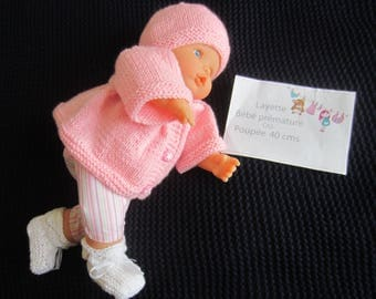 """Doll or premature baby clothing """"rose"""""""