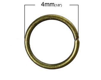 100 round 4mm Bronze jump rings