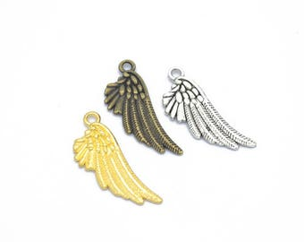 5 charm pendant feather 29 x 11 mm within 15 days
