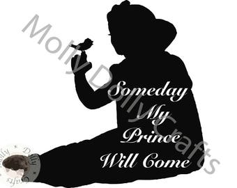 Snow White Someday My Prince Will Come SVG