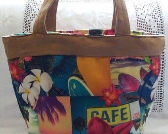 Tropical floral summer bag