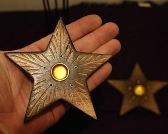 Mango Wood Burner, Star Incense Holder