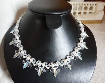 DAGGERS 'PURITY' CRYSTAL NECKLACE AND PEARL