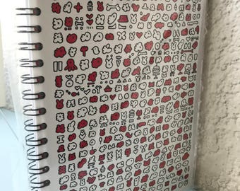 Red doodle book
